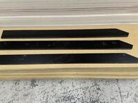 Teknos Coated Wood Pales 4ft 1.2m High Pointed Top Picket Garden Fence Panels