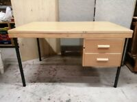 Sturdy laminated wooden desk. Quality work surface for home or office.