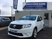 2013 13 DACIA SANDERO AMBIANCE TCE - 20,000 FSH - 12 MONTHS MOT - SERVICED - LOW TAX - AS NEW !!