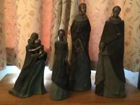 Stacy Bayne Bronze Tribal Statues