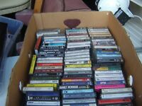 box of over 200 pre-recorded cassette tapes (more pics)