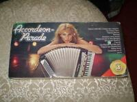 (rare) accordeon parade 1983(coffret 3 cassette neuf)