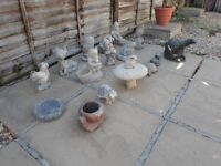 garden stone ornament 19 differance ornament sold as joblot 2 have stone missing at the botton