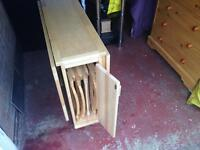 Folding Kitchen table with 4 chairs
