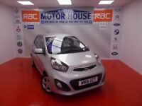 Kia Picanto 1(7 YEAR WARRANTY) FREE MOT'S AS LONG AS YOU OWN THE CAR!!! (silver) 2015