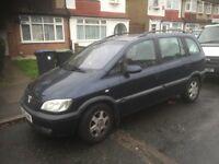 Vauxhall zafira 1.8 ,2002 , only 93000