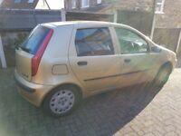 Cheap Fiat Punto 1.2 2001 Petrol Car to Scrap