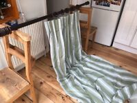 Matching Long curtain and roman blinds - used but in good condition, fully lined.