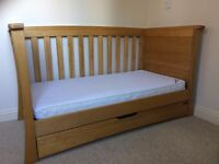 Mamas and Papas Ocean Cot Bed, Chest of Drawers and Storage