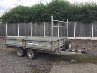 """Indespension general duty flatbed trailer with sides - 10'x5'6"""""""