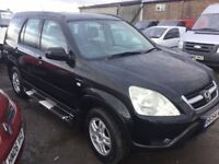 54 REG HONDA NEW SHAPE CRV IN VGCONDITION ALL THE GADGETS AIR HALF LEATHER ALLOYS SIDE SKIRTS