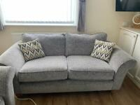 Grey 2 seater sofa SCS