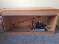 4ft Vivarium with additional accessories and suitable furniture