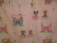 Girls pink princess curtains