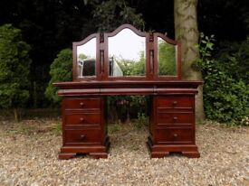 Barker & Stonehouse Grosvenor Mahogany Dressing Table With Mirror