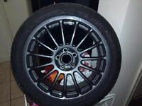 ")Set of 4)17"" New Tyres Refurbished Alloys £395"