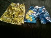 Boys swim shorts and tshirts shirts