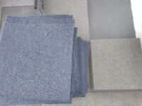 Blue & Grey Used Carpet Tiles