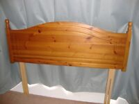 Double Bed Headboard ntique Pine Finish