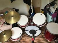 Gear 4 Music 5 piece acoustic drumset