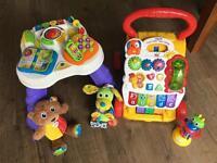 Vetch walker, play table & Lamaze toys