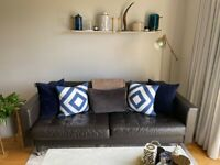 THREE SEATER LEATHER SOFA IN GREAT CONDITION