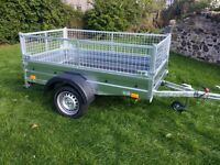 NEW Car trailers and mesch 6' x 4' 2,25 FIX PRICE ��580 inc vat spare wheel free