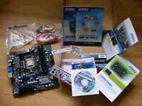 MSI H55M-ED55, Intel I3 550 CPU + 2x2GB Corsair Dominator PC3-12800