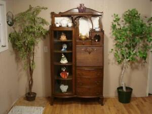 Antique Secretary/Display Case