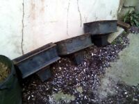 5 old cast iron hoppers