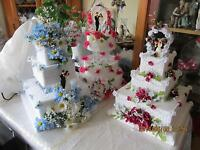 Artificial wedding cakes for sale.