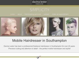 Professional mobile freelance hairdresser offering a bespoke professional service