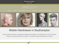 Professional mobile freelance hairdresser offering a bespoke professional service