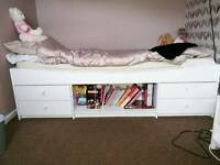Single bed storage bed.