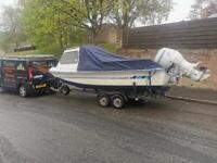 Dell quay dory cuddy 17ft fast fishing boat