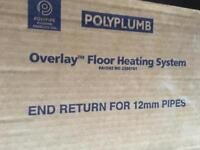 Polypipe end return x8 units for underfloor heating Brand New