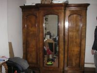 Antique wardrobe for sale.
