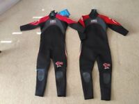 New Childrens wetsuits made in Cornwall by Banana Bite, suit 7-8 and 9-10 years