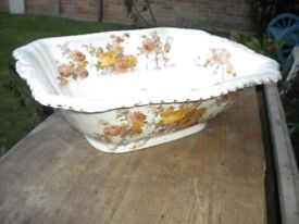 A LARGE 14X10X5 INCHES VICTORIAN BOWL