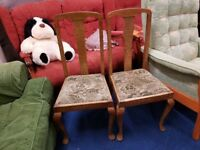 Pair of Dining/Bedroom Chairs