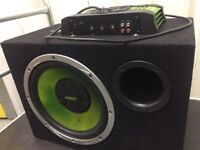 Car Subwoofer and Amplifier complete set with cables and fuses