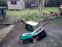 Bosch Rotax 370 ER corded electric Lawn Mower. New October 2017 used twice too small for my garden