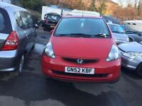 BREAKING HONDA JAZZ 2002-2008 , JAZZ CAR PARTS SPARES