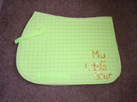 """Saddle Cloth with the text """" My Little Star"""""""