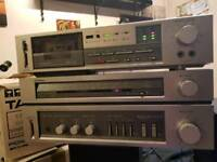 Vintage 1982 Pioneer tuner amplifier TA_110L and cassette deck CT_110