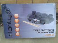 Clarity 7 pad electronic drum machine