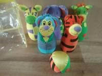 Skittle Soft Toy Set