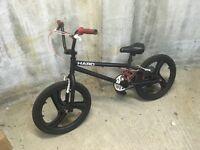 Matt Black Haro BMX Bike with Skyway wheels