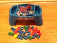 Mega Bloks Building Table with Spiderman and Blocks