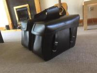 NEW LARGE LEATHER SADDLEBAGS